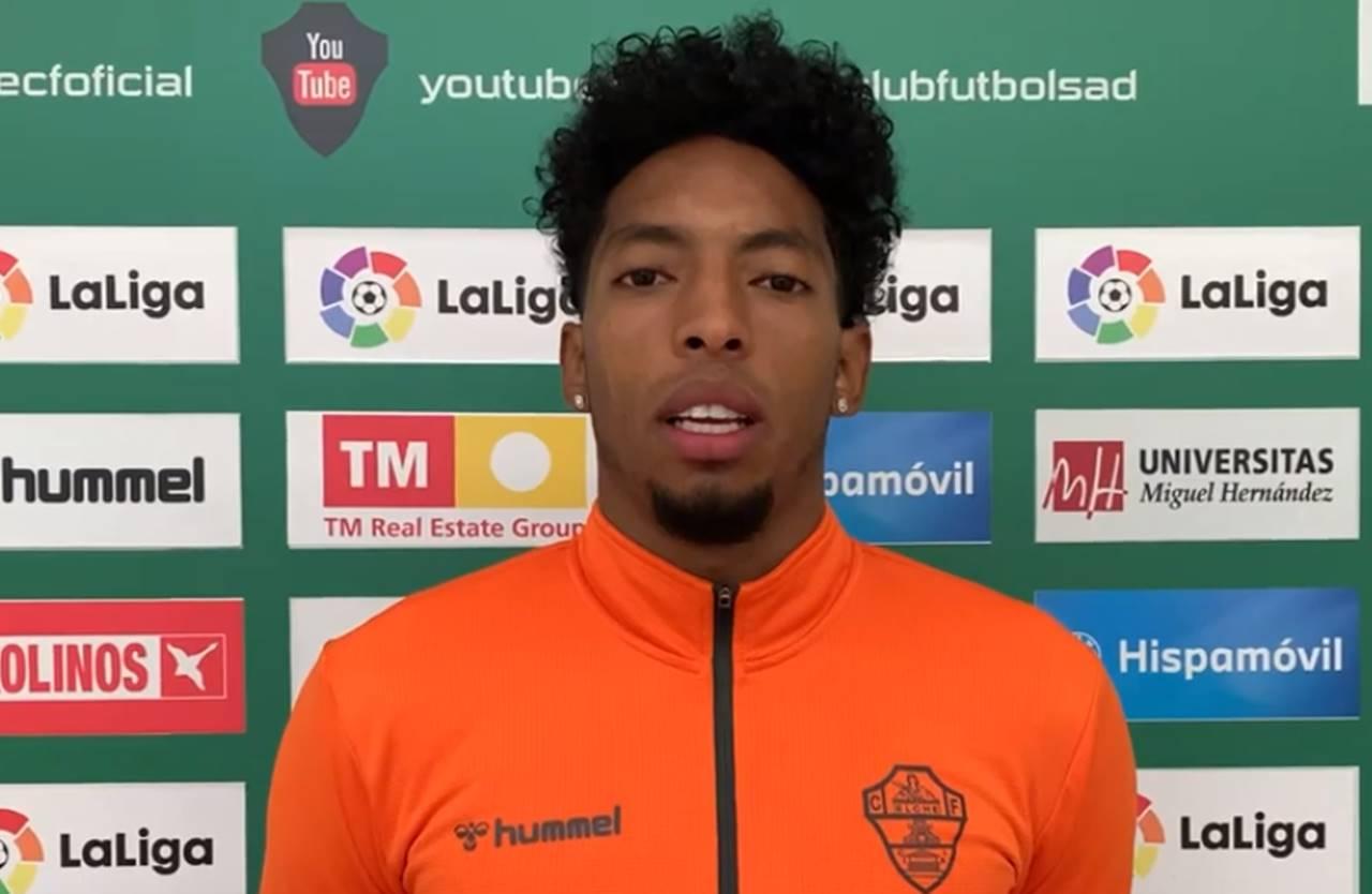 Johan Mojica seguirá de baja al menos dos partidos más en el Elche CF